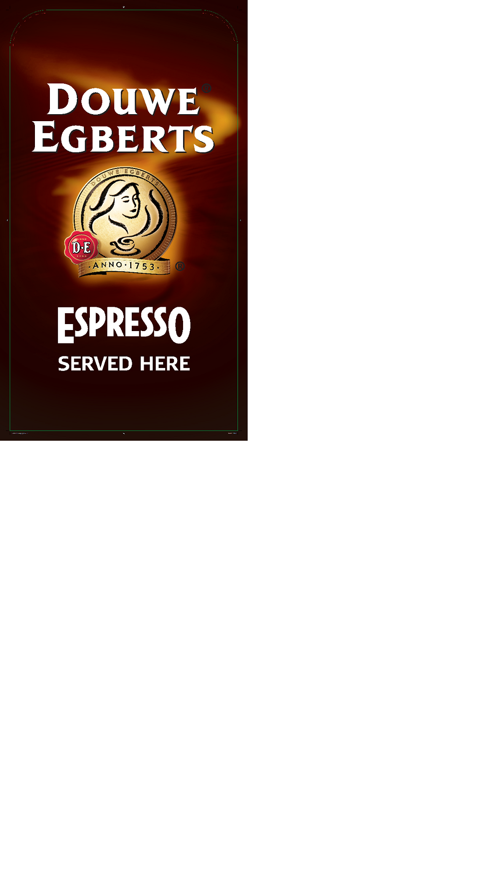 Douwe Egberts Espresso Pavement Sign