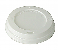 White Dome Sip Lid to fit 8oz Brown Kraft Ribbed Cup per 1000
