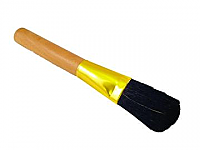 Premium Coffee Grounds Cleaning Brush - Wooden Handle