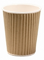 4oz Insulated Brown Kraft Rib Triple Layer Paper Cup per 1000