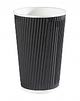 16oz Black Ripple Wall Hot Drink Cup per 500