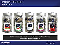 Imporient Point of Sale Storage Jars