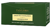Green Tea With Lemon Tea Bags box of 100