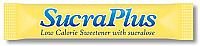 SucraPlus Low Calorie Sweetener stick box of 1000