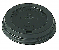 Black Domed Sip Lid to fit 10-16oz Brown Kraft Ribbed Cup per 1000