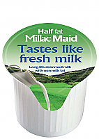 Millac Maid Half Fat Milk Pots 120 x 12ml