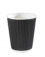 12oz Black Ripple Wall Hot Drink Cup per 500