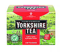Yorkshire Tea String & Tagged Tea Bags box of 6 x 100