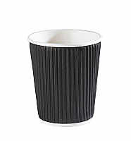 8oz Black Ripple Wall Hot Drink Cup per 500